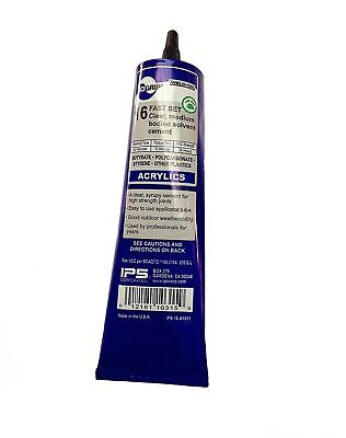 Ips Weld On 16 Plastic Glue Cement For Acrylic Plexiglass 5 Oz. Tube