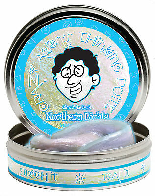 Northern Lights Glow In The Dark Crazy Aarons Thinking Putty 3 2Oz 4 Inch Tin