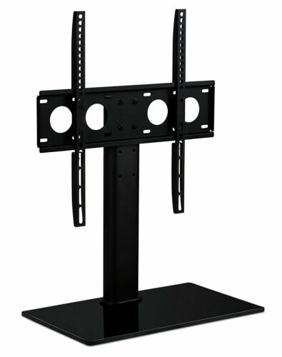 Mount-It! Universal Tabletop TV Stand Base with Shelf | Fits