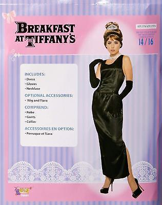 Holly Golightly Breakfast Tiffany's Gown Fancy Dress Up Halloween Adult Costume - Holly Halloween
