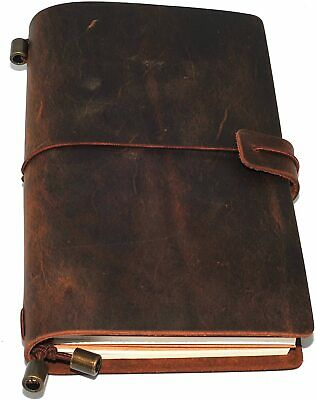 Plain Leather Notebook Journal Handmade Vintage Travel Diary Notepad Book Pad