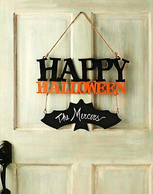 Mud Pie Holiday Decor Happy Halloween Door Or Wall Hanger 4345025D - Mud Pie Halloween Decor