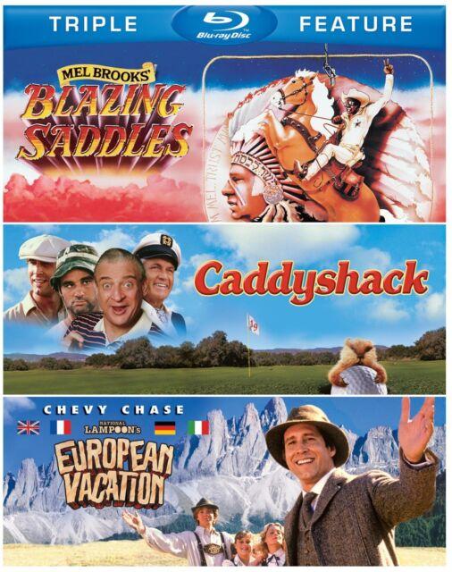 BLAZING SADDLES /CADDYSHACK / EUROPEAN VACATION -  Blu Ray - Sealed Region free