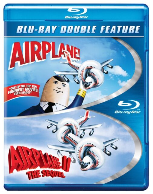 AIRPLANE 1 & AIRPLANE 2 THE SEQUEL -  Blu Ray - Sealed Region free for UK