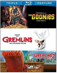 THE GOONIES / GREMLINS 1 / GREMLINS 2   -  Blu Ray - Sealed Region free for UK