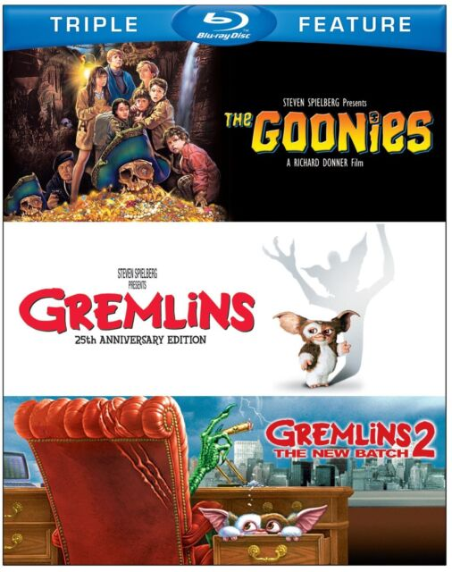 THE GOONIES / GREMLINS 1 / GREMLINS 2   -  Blu Ray - Sealed Region free for UK