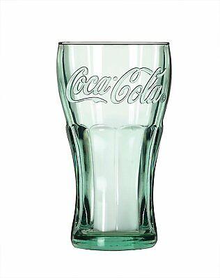 Traditional Coca Cola Glasses x 2 Georgian Green 16oz