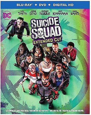 Suicide Squad  Blu Ray  Dvd  Digital  New Extended Cut