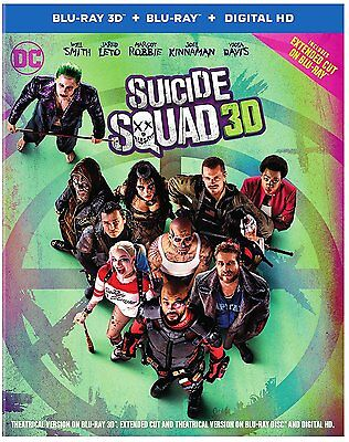 Suicide Squad  3D Blu Ray Disc Only  2016