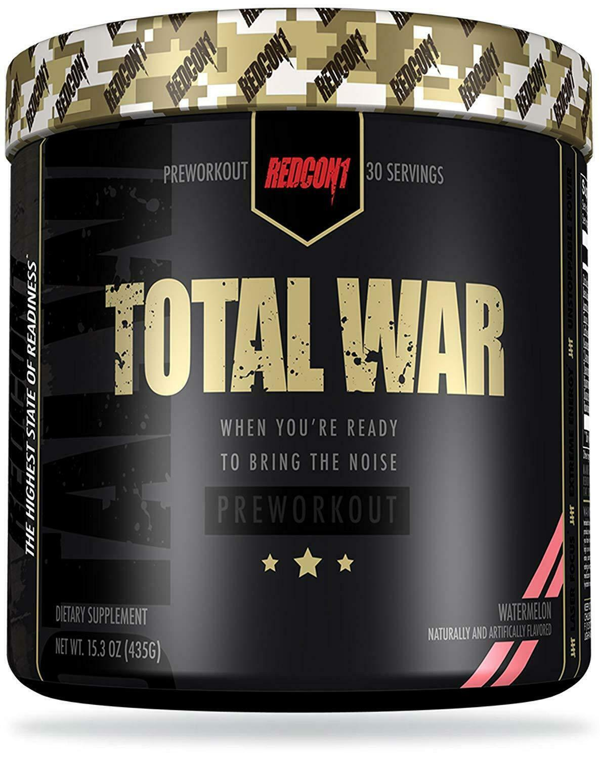 Redcon1 TOTAL WAR Pre Workout Insane Energy New Formula ALL FLAVORS FREE SHIP 3