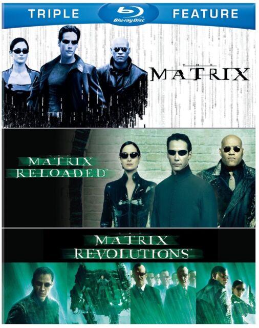 The MATRIX TRILOGY HI-DEF BLU-RAY ALL REGIONS 3 DISCS KEANU REEVES  EXPRESS POST