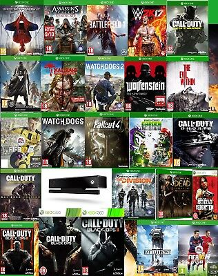Xbox one game bundle! Black ops Warfare Battlefield Dogs Fifa Fallout Tom WWII