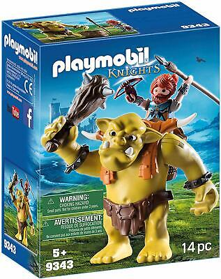Playmobil 9343 Knights Giant Troll with Dwarf Fighter