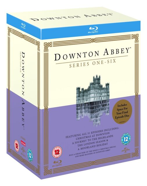 """DOWNTON ABBEY 1-6 COMPLETE SERIES COLLECTION 19 DISC BLU-RAY B """"NEW&SEALED"""""""