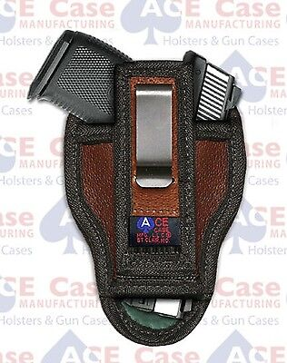 KAHR CM9 IWB LEATHER TUCK-ABLE CONCEALED CARRY HOLSTER **100% MADE IN U.S.A.** for sale  Shipping to Canada