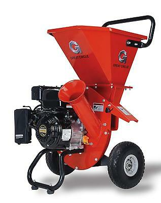 GreatCircle 7 HP Heavy Duty 212cc Gas Powered 3:1 Pro Wood Chipper Shredder