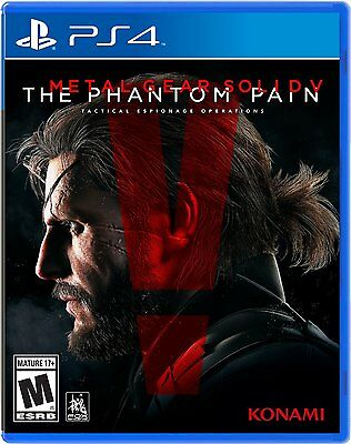 METAL GEAR SOLID V THE PHANTOM PAIN PS4 Sony Playstation 4 NEW! comprar usado  Enviando para Brazil