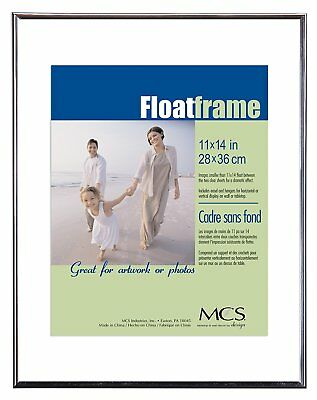 Mcs Float Frame (MCS Float Frame 11x14 Silver (Same Shipping Any Qty))