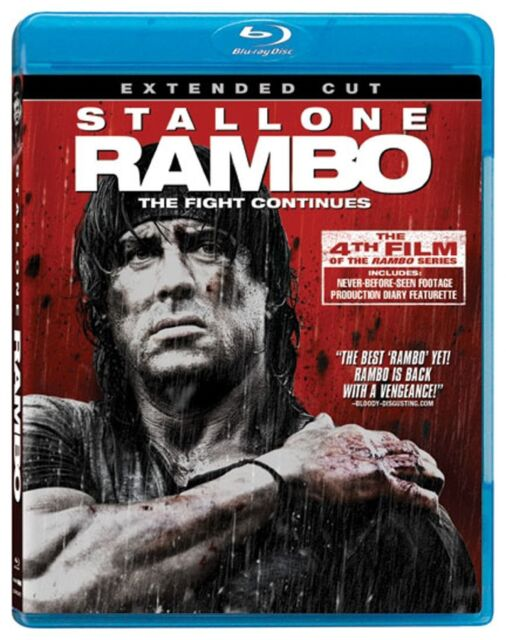 RAMBO : THE EXTENDED CUT (91 minutes) -  Blu Ray - Sealed Region free