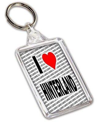 I Love Hinterland Keyring - Gift - Birthday - Christmas - Stocking Filler