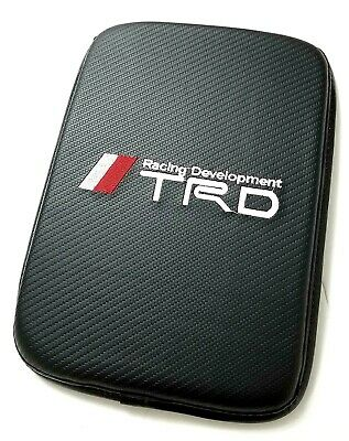 BRAND NEW TRD Carbon Fiber Car Center Console Armrest Cushion Mat Pad Cover  for sale  USA