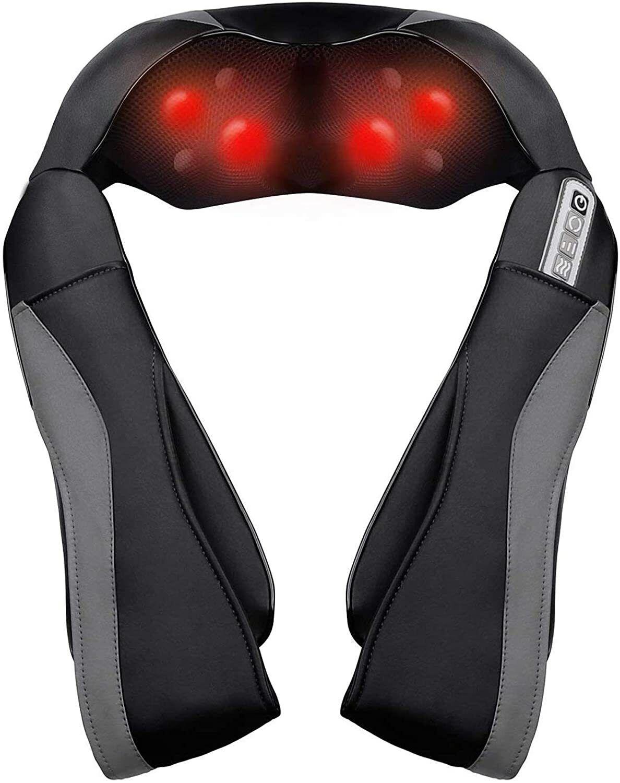 Massagegerät mit Wärmefunktion für Schulter Nacken Rücken, Nackenmassagegerät