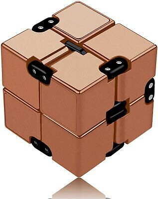 Infinity Cube Fidget Cube Toy suitable for Adults Kids Fidget Finger Toy - GOLD