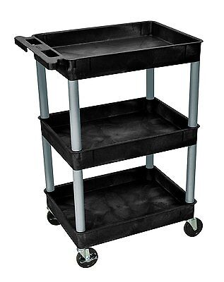 Luxor Tub Cart With Three Shelves Carries Up To 300 lbs BKSTC111-N New