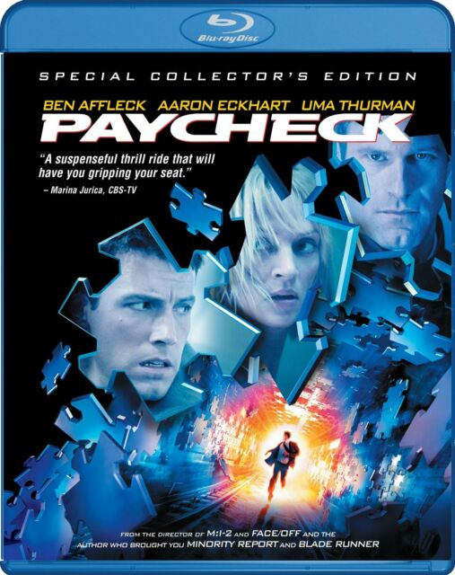 PAYCHECK (Ben Affleck) Collector's Edition  Blu Ray - Sealed Region free for UK