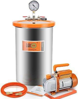 5 Gallon Vacuum Chamber Kit With Vacuum Pump Standard Hvacbacoeng