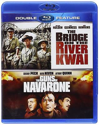 BRIDGE ON RIVER KWAI + THE GUNS OF NAVARONE Blu-Ray Double Feature NEW  Sealed (River Bridge)