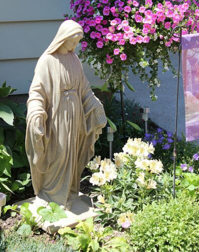 """Virgin Mary Statue 34"""" Blessed Mother Garden Sculpture Resin Religious Home Deco"""