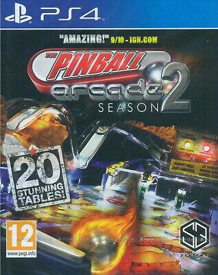 Pinball Arcade Season 2 [Sony PS4 Region Free 20 Stunning Tables Amazing] NEW