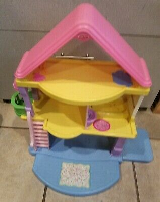2005 FISHER PRICE MY FIRST DOLL HOUSE DOLLHOUSE PLAYSET WITH SOUND