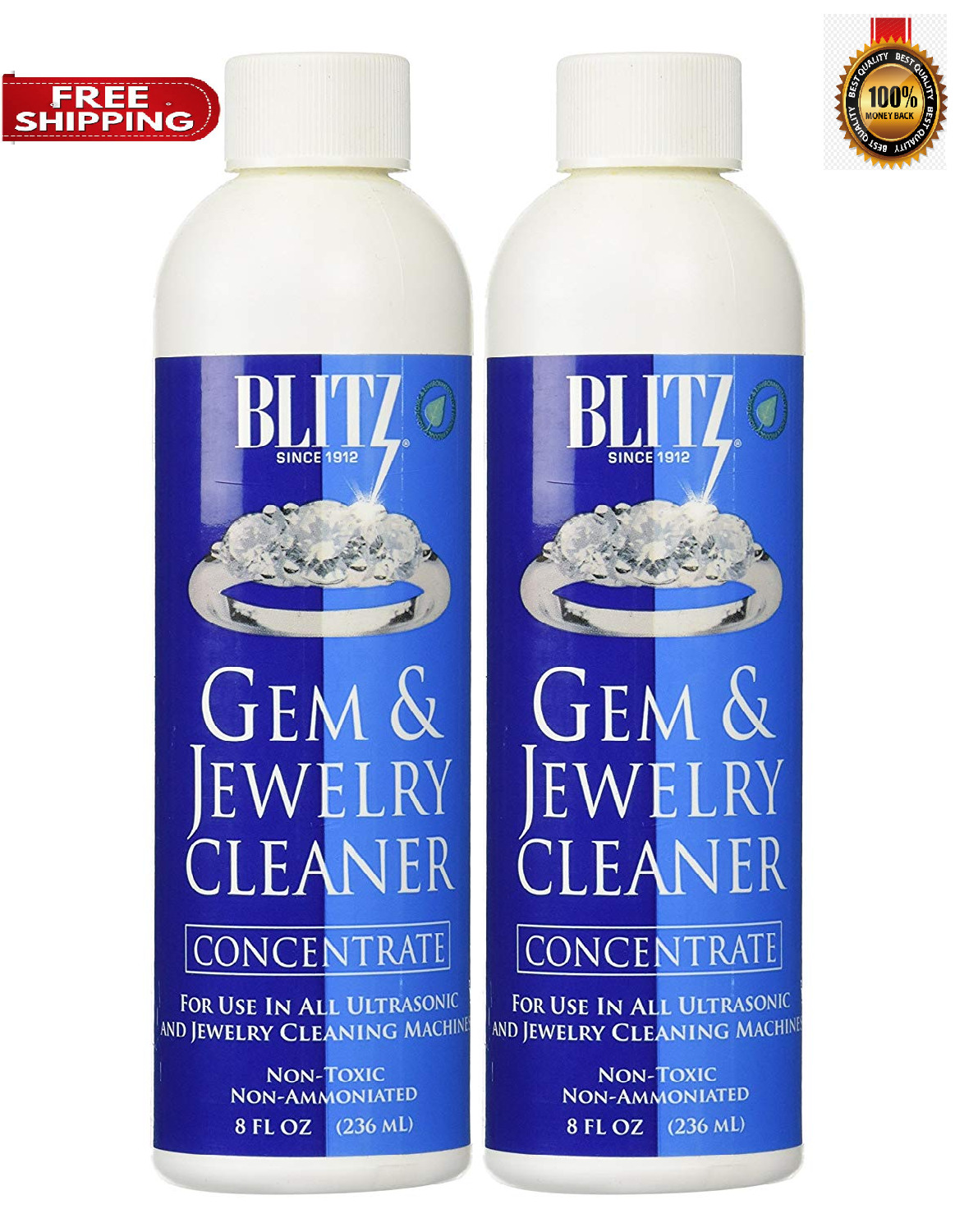 Jewelry Cleaning Solution Concentrate for Sonic Ultrasonic C