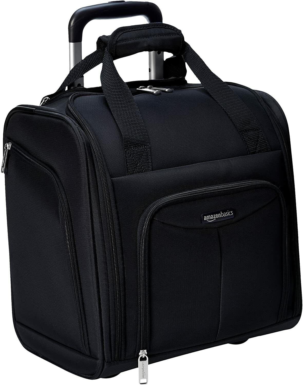 Amazon Basics Underseat, Carry-On Rolling Travel Luggage Bag