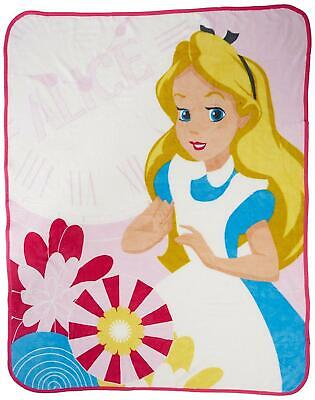 Alice And Wonderland Curious Coral Fleece Blanket by Character World