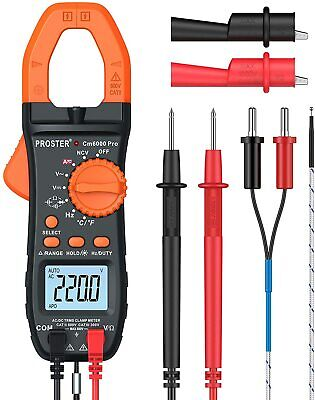 Proster 6000 Counts Clamp Multimeter Digital Auto-ranging Tester Current Voltage