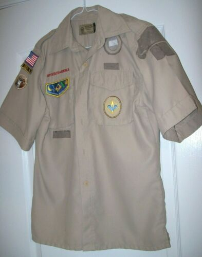 Official Boy Scout/ Webelos Shirt Youth Size 14-16 L LG Large  MIcrofiber
