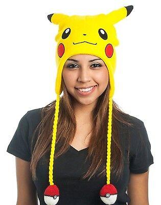 Pokemon Pikachu Beanie Hat Big Face - Pokemon Hat