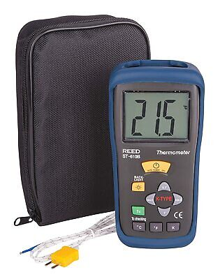 Reed Instruments St-610b Type K Thermocouple Thermometer -58-2000f Kelvin