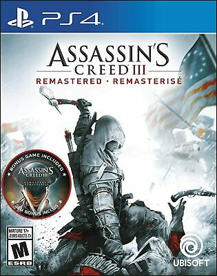 Assassin's Creed III: Remastered PlayStation 4 PS4 - Brand New   Factory Sealed