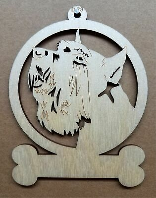 Schnauzer dog ornament wooden Christmas Gift D-73 ()