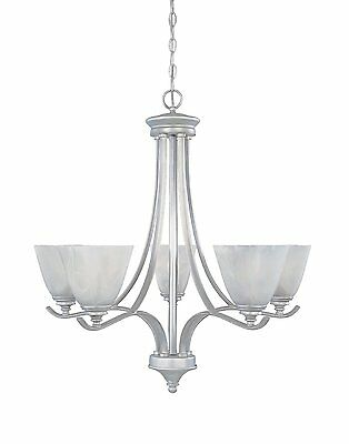 Matte Pewter And French Swirl Alabaster Glass 5 Light Chandelier Alabaster Pewter Chandelier
