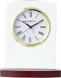 Howard Miller Marcus Table Clock 645-580 – Modern Glass w/ Quartz Alarm Movement