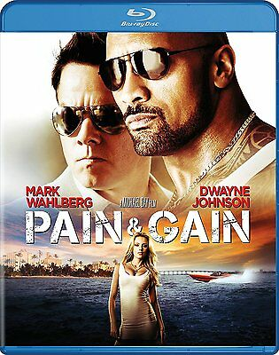Pain   Gain  Blu Ray Disc  2017  Mark Wahlberg  The Rock  Free Shipping