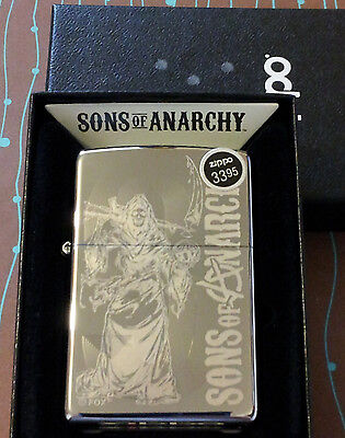 Zippo 28957 Sons Of Anarchy Reaper Original 9 Etched New Windproof Lighter