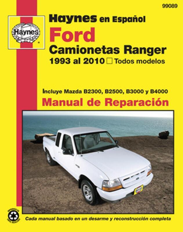 ford ranger repair manual ebay