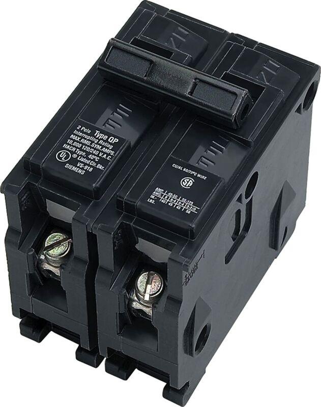 Brand New Siemens 125 Amp Double-Pole Type QP Circuit Breaker