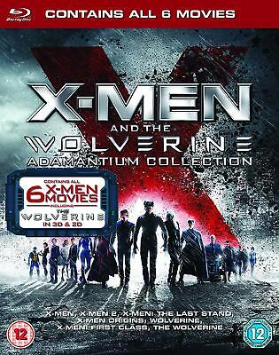 X-Men & the Wolverine Adamantium Collection (Blu-ray, 6 Discs, Region Free) NEW